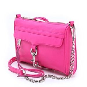 NEW Rebecca Minkoff Mini Mac Poppy Pink Crossbody